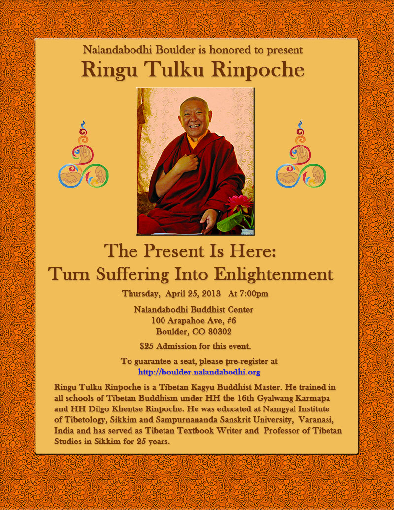 ringu tulku rinpoche at nalanda bodhi
